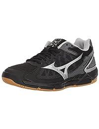 Mizuno Women's Wave Supersonic Volleyball Shoe, Black/Silver 8.5 B US