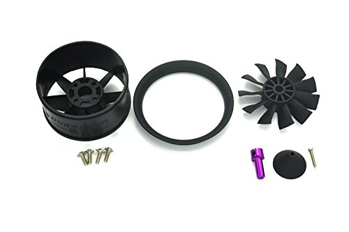 Powerfun EDF 50mm 11 blades brushless motor ducted fan for rc jet model airplane (duct fan housing)