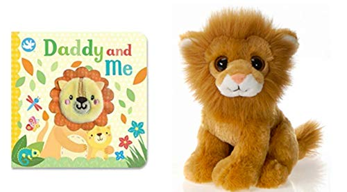 DG Shopping Spree Little Learners Finger Puppet Book Daddy and Me and Plush Lion Set (2 Piece Set) (Puppet Finger Lion)