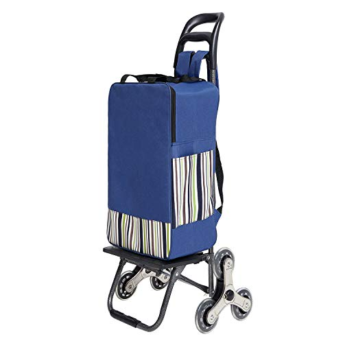 HOUSE DAY Foldable Shopping Cart with Super Easy