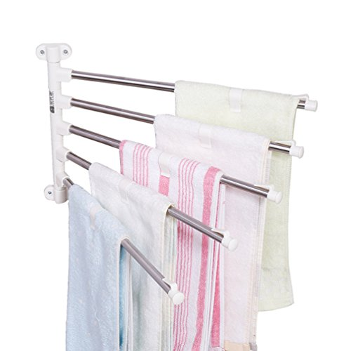 Baoyouni Wall Mounted Swing Towel Drying Rack Pants Hanger H