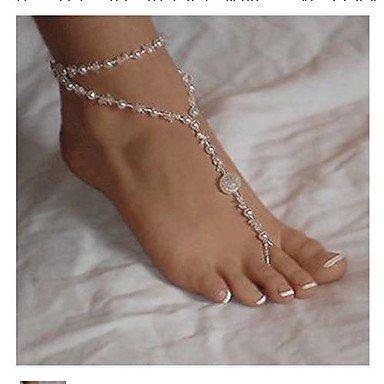 96b079652785 Elegrant Transluusent Pearl Barefoot Sandals 1pc