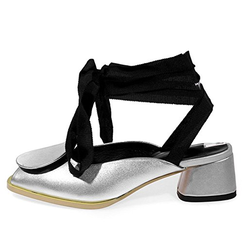 Nine SevenSandals - Zapatos con tacón mujer plata