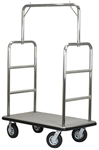 Select Valet Bellman's Cart, Brushed Stainless Steel Finish by Wholesale Hotel Products