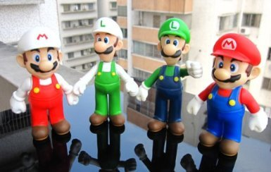 "Lujex ® 4pcs set 5"" Super Mario Bro Mario & Luigi Action Figure Toy"