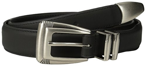 ZEP-PRO NCAA Texas Tech Red Raiders Leather Concho Tapered Tip Belt, Black, 42-Inch