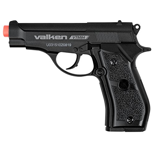 Valken Tactical Airsoft M84 CO2 Semi Metal Pistol, 6mm