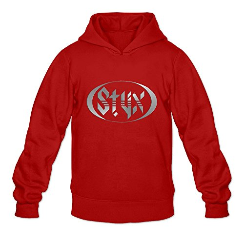 Price comparison product image Crystal Men's Styx Long Sleeve Hoodie Red US Size XL