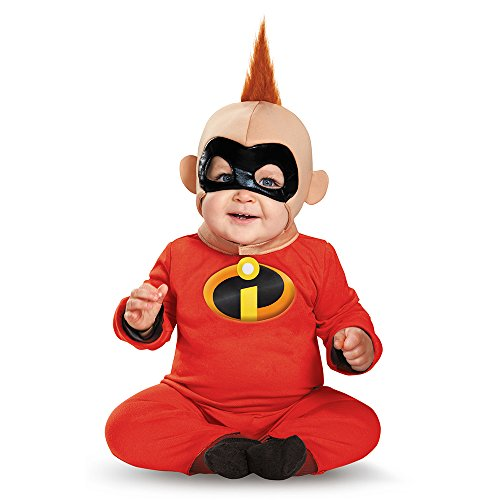Disguise Baby Boys' Baby Jack Deluxe Infant Costume, Red/Black, 12-18 (The Incredibles Fancy Dress Costumes)