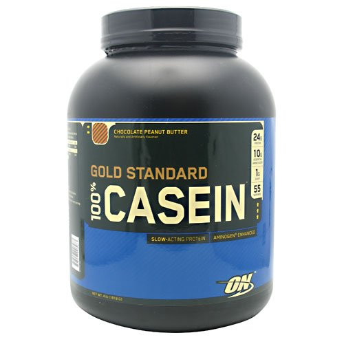 Optimum Gold Standard 100% Casein 4 Lbs. - Chocolate Peanut Butter by Optimum Nutrition