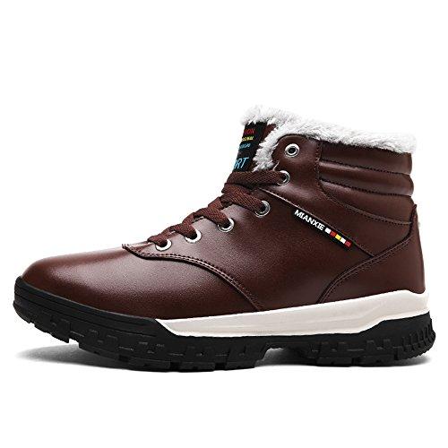 BAINASIQI Scarpe caldo Stivali Inverno Neve Outdoor Tenere Boots Invernali da Scarpe Casuale Marrone Uomo sportive Sneakers r0qgYr