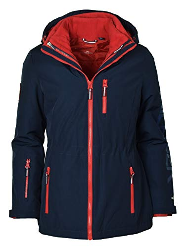 Tommy Hilfiger Women's 3-in-1 All Weather Systems Jacket - XL - Navy (Jacket Hilfiger Fashion Tommy Womens)