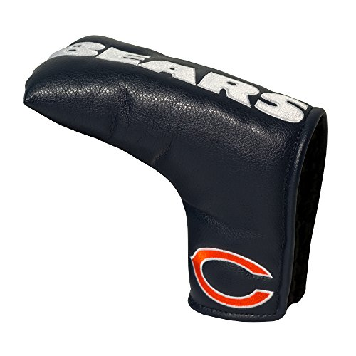 Team Golf NFL Chicago Bears Golf Club Vintage Blade Putter Headcover, Form Fitting Design, Fits Scotty Cameron, Taylormade, Odyssey, Titleist, Ping, Callaway