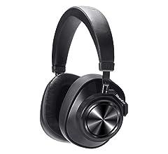 Bluedio T7 Plus Auriculares Bluetooth inalámbricos con ANC,Casco Bluetooth con Mic/Ranura SD,Tecnología de Reconocimiento Facial, Controlador Doble de ...
