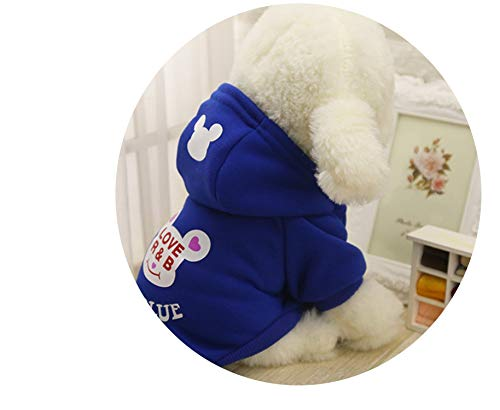 Fanatical-Night T Hot Pets Dog Hoodies Puppy Fleece Coats Jacket for Maltese Cat Costume Dogs Clothes,B Blue,XXL Chest 54cm ()