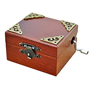 Wooden Music Box Hand Cranked Spirited Away