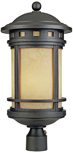 Sedona 23'' High 18 Watt CFL Oil Bronze Outdoor Post Light by Designers Fountain
