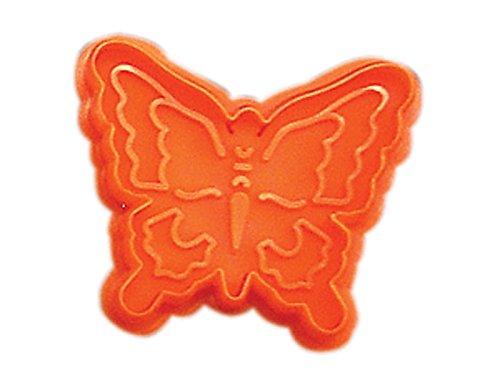 CybrTrayd RM-0408-3LOT R&M Butterfly 2.75' Cookie Stamper (Set of 3), Orange