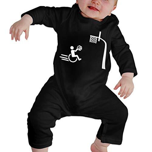 Newborn Baby Wheelchair Long Sleeve Romper Creeper Black ()