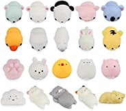 Toys Mochi Slow Rising for Kids Kawaii Animal Squeeze Stress Reliever Toys 20pcs