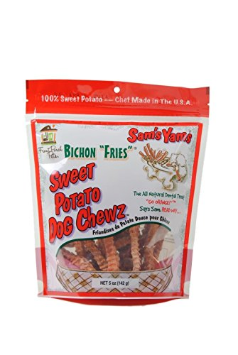Sweet Potato Dog Chewz - 3 Pack - Regular Bichon Fries,5oz