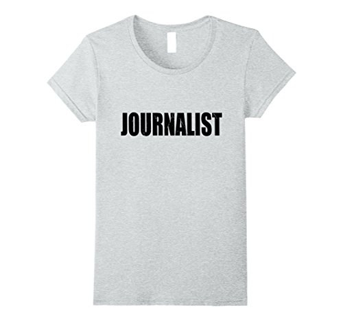 Womens Journalist Halloween Costume Party Cute & Funny T shirt XL Heather Grey - Female Journalist Costume