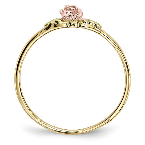 ICE CARATS 10k Tri Color Black Hills Gold Rose Band Ring Size 7.00 Fine Jewelry Gift Set For Women Heart by ICE CARATS (Image #3)