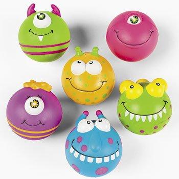 Monster Face Stress Balls (Set of 12)