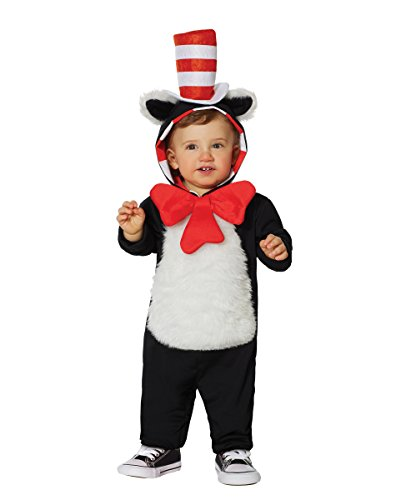 Spirit Baby Costumes (Spirit Halloween Toddler Hooded Cat in The Hat Costume - Dr. Seuss)