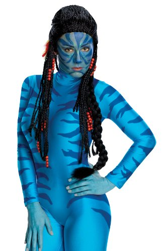 [Avatar Neytiri Deluxe Wig, Black, One Size] (Alien Costume Woman)