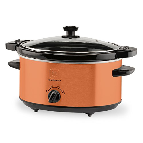 - Toastmaster TM-402SCCP Slow Cooker, 4 Quart, Copper
