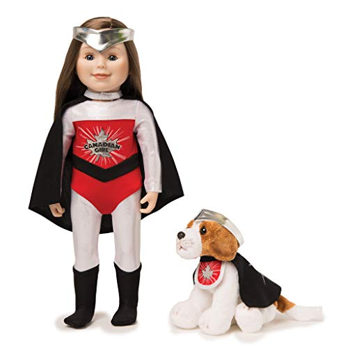 Maplelea Candian Girl Super Hero Set for 18 Inch Doll and Dog -