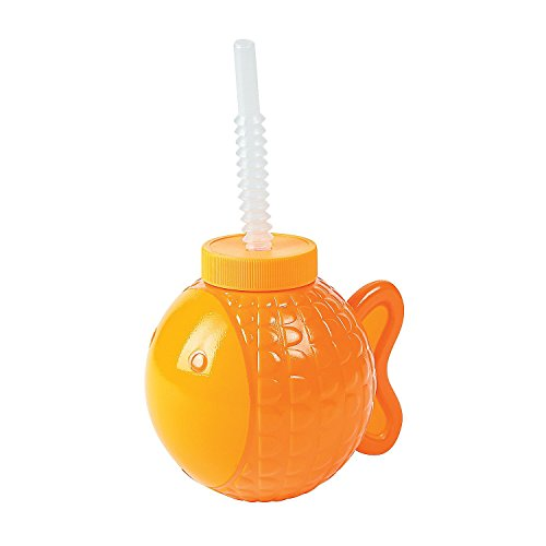 Fun Express Little Fisherman Cups With Lids & Straws - 8 pieces ()