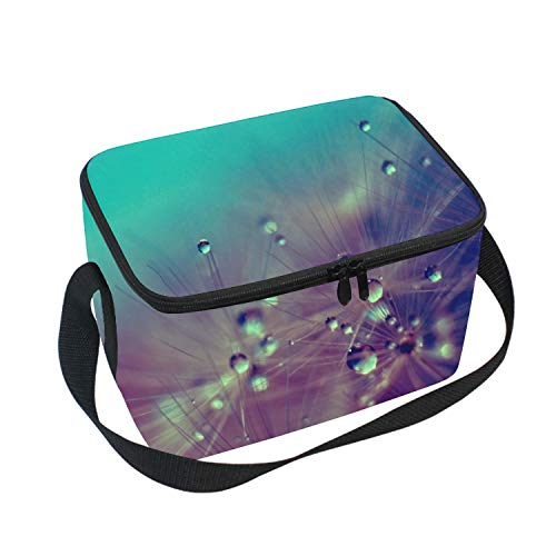 Dandelionwallpape Lunch Tote Insulated Thermal Lunch Bag Waterproof Carry Case with Zipper