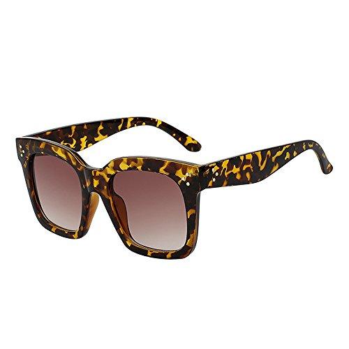 Big gafas de lentes Gafas de Black Mujer veraniego Moda sol hembra estilo Vintage de cuadrados Frame UV400 gafas espejo 3 sol aEzUFx