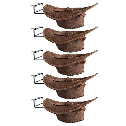YYST Cowboy Hat Rack Cowboy Hat Holder Coyboy Hat Organizer 5/PK- No Cowboy Hat ()