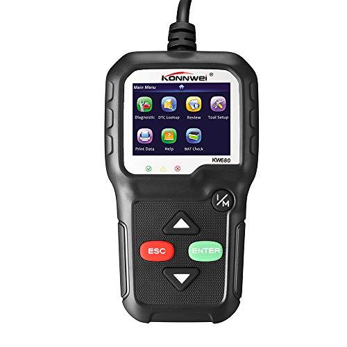 Festnight OBDII OBD Scanner Code Reader, KONNWEI KW680 Multi Language Automotive Car Diagnostic Scanner Engine Fault Code Reader Detector