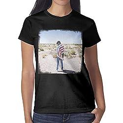 Yhdtfs Women Girls Black T Shirts Tee Khalid American Teen O Neck Short Sleeve Cotton