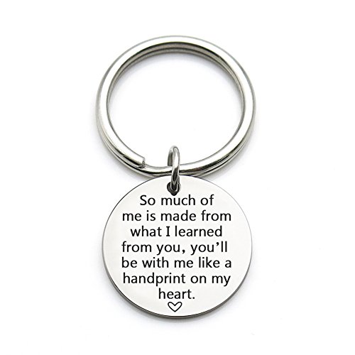 XYBAGS Teacher Appreciation Gift Idea, So Much of Me is Made of What I Learned from You, Personalized Teacher Keychain Gifts -