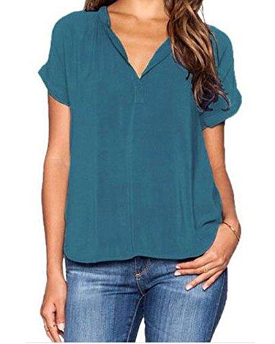 yeeatz-lake-green-v-neck-short-sleeve-oversize-chiffon-blousesizel