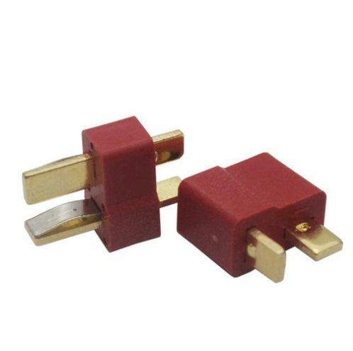 por ltsstoreuk 20/pares rojo Ultra T enchufe conectores Deans estilo para RC Li-Po bater/ía macho y hembra Come con negro de tubos termorretr/áctiles