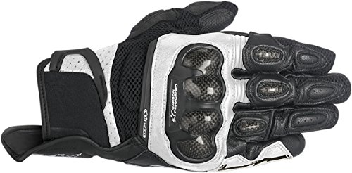 Alpinestars SP-X Air Carbon Leather Street Motorcycle Gloves Black/White Mens Size (Alpinestars Spx Leather)