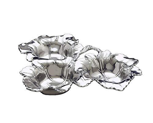 (Arthur Court Designs Aluminum Grape 3-Bowls 13