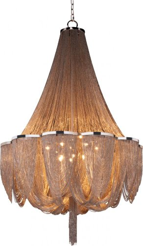 Maxim Lighting 21467NKPN Fourteen Light Up Chandelier, Polished Nickel