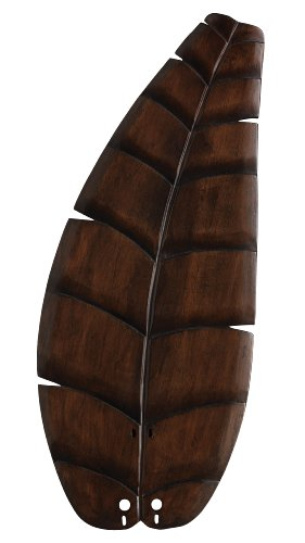(Fanimation B5350WA Oval Leaf Carved Wood Blade, 26-Inch, Walnut)