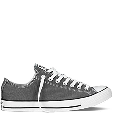 Converse Chuck Taylor All Star Low Top Charcoal Canvas Shoes with Extra Pair of White Laces men's 3/ women's 5