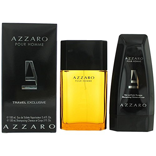AZZARO Pour Homme 2 Pieces Set with Eau de Toilette Spray and Shampoo (Piece 2 Cologne Set)