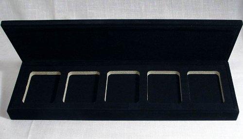 Case 5 Coins - Velvet Box for 5 Certified Coins