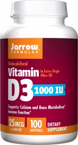 Jarrow Vitamin D3 1000 IU, 100 sgels (Multi-Pack) by Jarrow Formulas