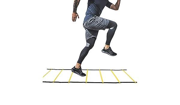 Rehomy Herramienta de Ejercicio de Juego de Pies de Escalera de Agilidad de Entrenamiento de Velocidad para Deporte de Fútbol Soccer (7 Peldaños): Amazon.es: Deportes y aire libre